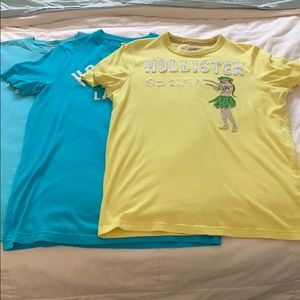 Men's Hollister t-shirts (3) in new condition